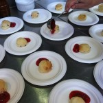 Kim Laidlaws Scone with strawberry jam from @SFCooking School at the Open House.