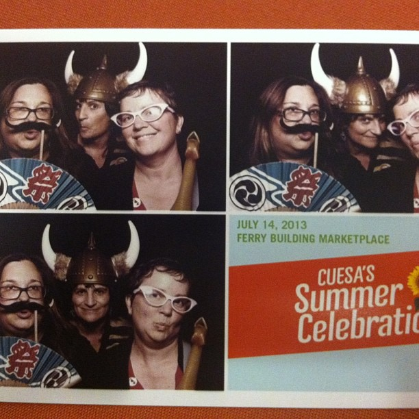 Here's the Epicurators having a laugh at the delicious #CUESA Summer Celebration.