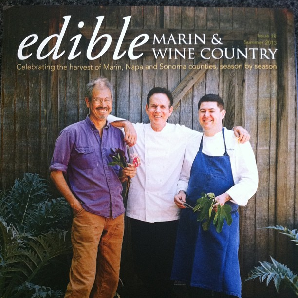 Love this story on our friend, farmer Peter Jacobsen on the cover of #EdibleMarinandWineCountry. He and Gwennie have the most wonderful farm filled with wondrous flowers, stone fruit, tomatoes, figs.