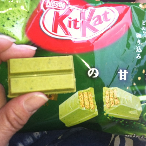 #Kitkat fanatics: #Nijiya market has Green Tea finally. Haven't had them since I was in Japan.