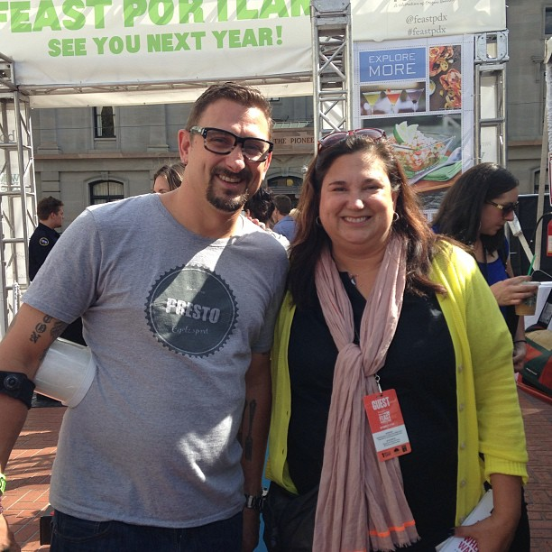 Hanging with SF hommie - Chris Cosentino @FeastPDX