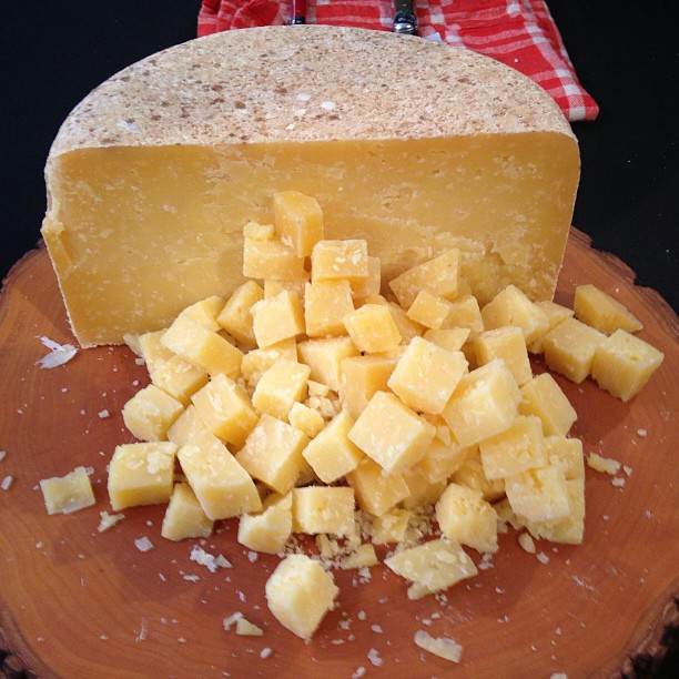 A beautiful Ancient Heritage Dairy cheese at #feastpdx
