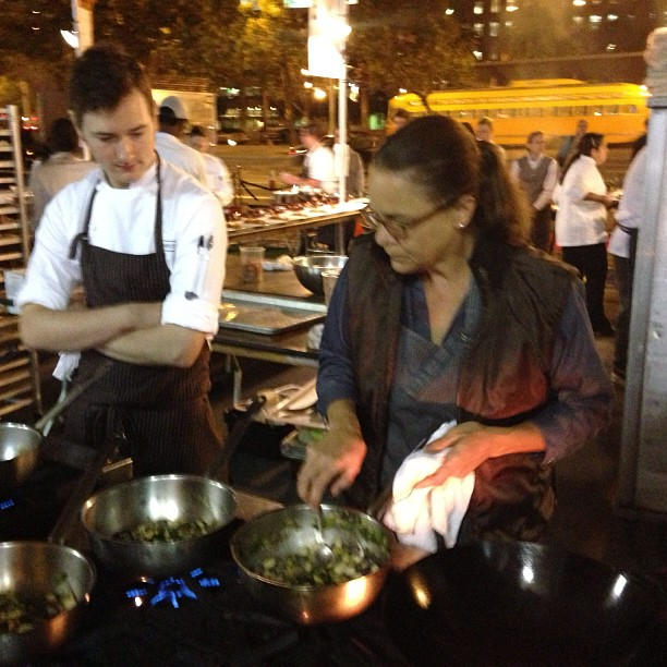 Pam Mazzola from #Prospectsf in the kitchen at #cuesasundaysupper