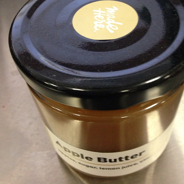 Check out the soon to open @LocalMissionMarkets apple butter. All locally sourced and crafted in their kitchen. They'll be opening later this month.