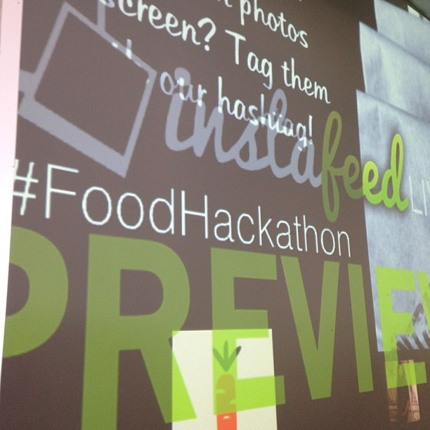 #FoodHackathon great to be here and that #CUESA is sponsoring.