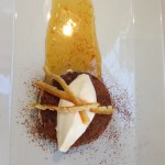 @SFCooking Professional Culinary Students Finals: Restaurant Week: Dessert: Fallen chocolate cake. #SFCooking #restaurant