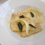 @SFCooking Professional Culinary Students Finals l: Restaurant Week: 1st Course: Kabocha Squash Ravioli.