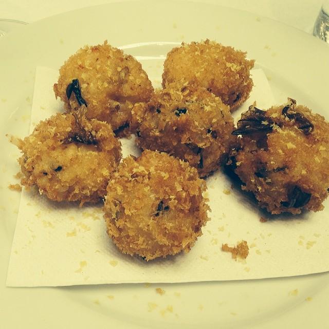 Kimchi arancini #sfcooking #restaurantweek