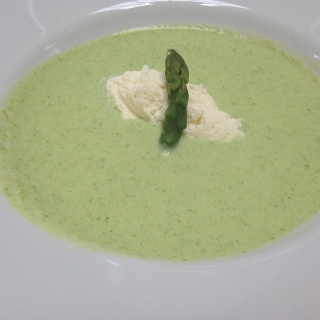 chilled spring green soup #sfcooking #restaurantweek