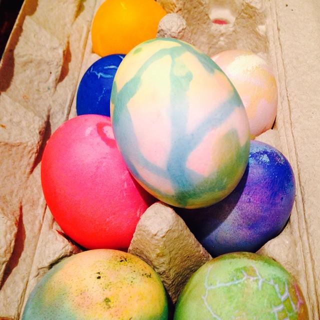 Eggtastic decorated eggs by Elke.