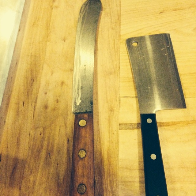 @Chef_DLee knives for #smokestackbbq