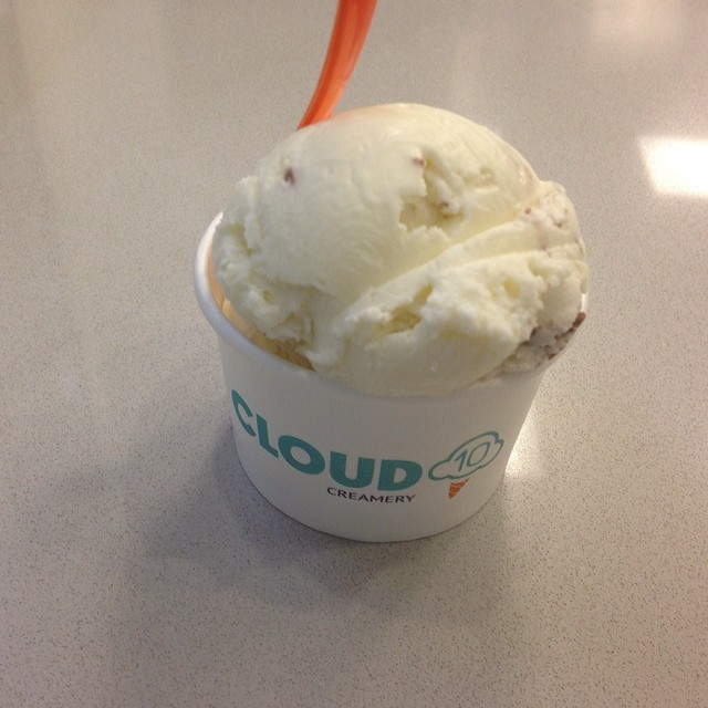 First ever marzipan ice cream(!) at Cloud Ten in Rice University hood.  Yum!