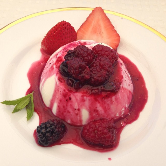#deloachvineyards berry panna cotta. #heaven #wineroad.