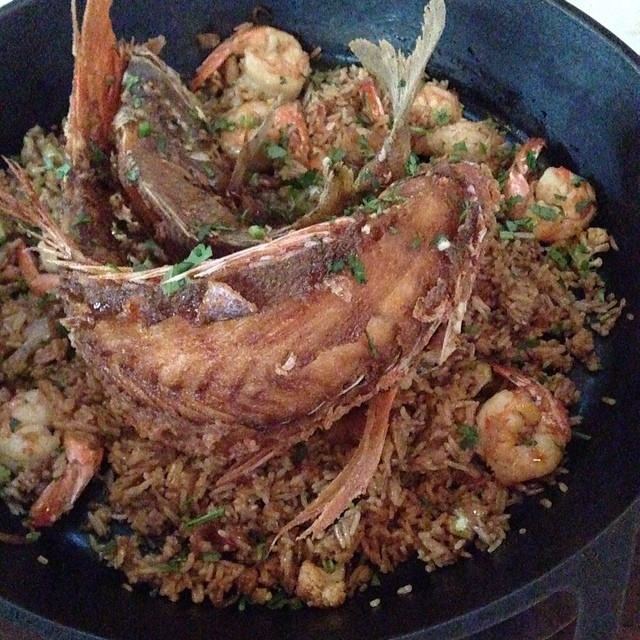 @Underbelly - whole fish paella. @beardfoundation was right, it deserved the outstanding restaurant for the southwest.
