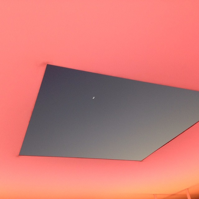 Last nights twilight show at James Turrell Skyspace at Rice University.