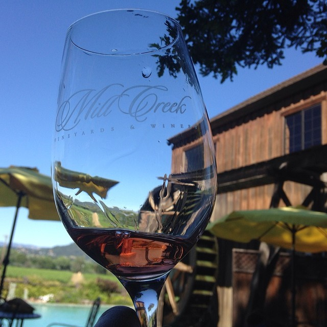 Another new-to-me winery (and family owned) which we visited today: #MillCreek on #wineroad #DryCreek.