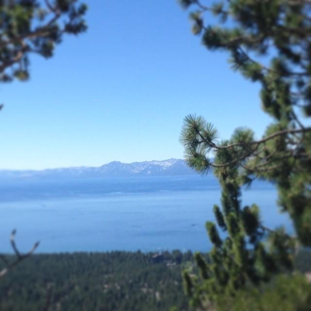 Yes, Lake Tahoe is this beautiful today. #tahoe #northshore