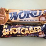 our first taste of @LegitOrganics new organic candy bar – riffing on #Snickers and #MilkyWay. Live the names: @ShotCaller and @Word. @SusieVision